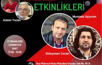 Kayapa Söyleşilerinin konukları Süleyman Ceran ve Mustafa Uçurum