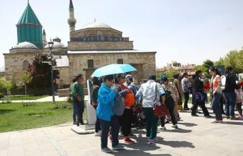 Mevlana Müzesi'nde Ramazan yoğunluğu