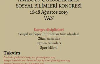 Anadolu 3. Uluslararası Sosyal Bilimler Kongresi