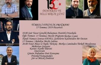 """""""15 Temmuz Demokrasi ve Milli Birlik Günü Programı"""""""