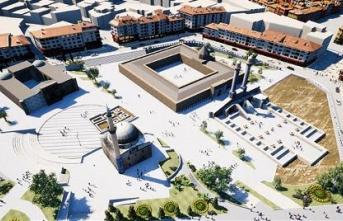 Sivas'ta tarihi eserlerin çevresindeki binalara cephe düzenlemesi