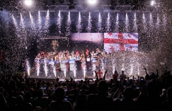 Uluslararası Altın Karagöz Halk Dansları Yarışması'nın birincisi Gürcistan
