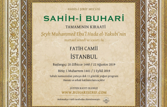 Fatih Camii'nde Sahîh-i Buhârî hatmi yapılacak
