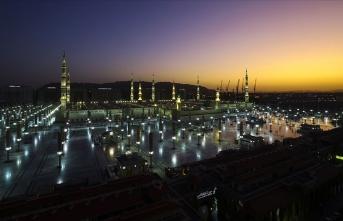 'Peygamber şehri'nde sabah güzelliği
