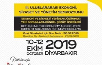 Dicle Üniversitesi 3. Uluslararası Ekonomi Siyaset ve Yönetim Sempozyumu