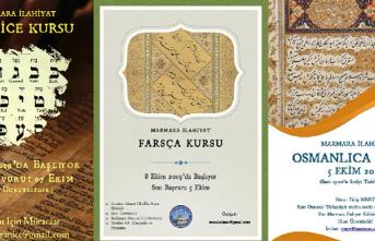 Osmanlıca, Farsça, İbranice kursları
