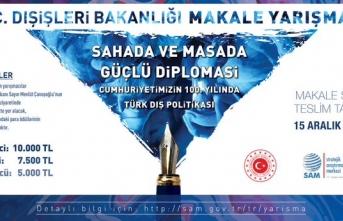 Dışişleri Bakanlığı makale yarışması düzenliyor
