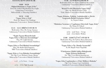 """""""Gelişen Teknolojiler ve Hukuk Konferansları 2: Yapay Zeka"""""""