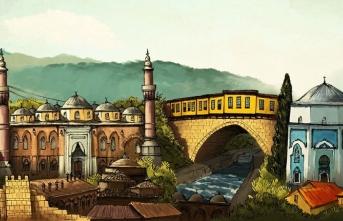 Billur bir avize Bursa'da zaman