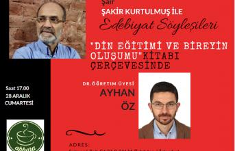 Edebiyat Söyleşilerinin konuğu  Ayhan Öz