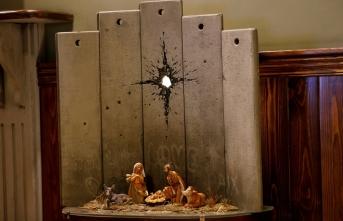 İngiliz sanatçı Banksy'nin yeni maket çalışması Beytüllahim'de sergilendi