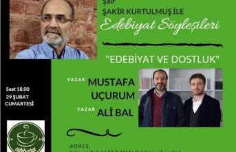 Abbara Kahve edebiyat söyleşilerinin konuğu Mustafa Uçurum ve Ali Bal