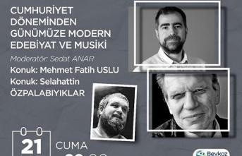 """Söyleşi: """"Cumhuriyet Döneminden Günümüze Modern Modern Edebiyat"""""""