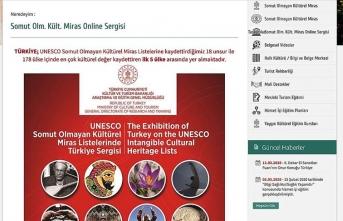 'Somut olmayan kültürel miras' online sergisi açıldı