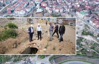 Gaziosmanpaşa'da kentsel dönüşüm çalışmaları sırasında 1500 yıllık su kemeri ortaya çıktı