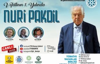TYB Konya'dan vefatının 1. yılında Kudüs şairi Nuri Pakdil'e vefa programı