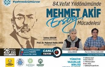 TYB Konya'da yılın son programında milli şairimiz Mehmet Akif Ersoy konuşuldu.