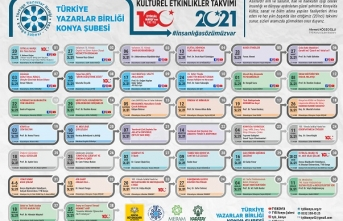 Türkiye Yazarlar Birliği Konya Şubesi 2021 programını açıkladı.