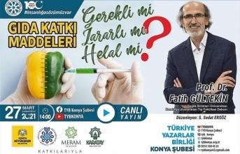 """TYB Konya'da """"Gıda Katkı Maddeleri"""" konuşuldu"""