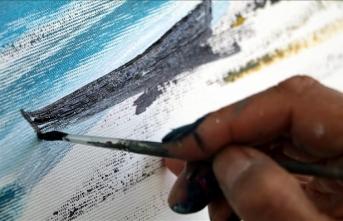Çankırı'nın güzelliklerini 5 ülkeden 14 ressam tuvale yansıtıyor