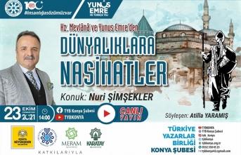 TYB Konya'da Mevlânâ ve Yunus'tan dünyalıklara nasihatler