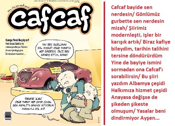 Cafcaf'ın Beyaz Türk sayısında neler var?