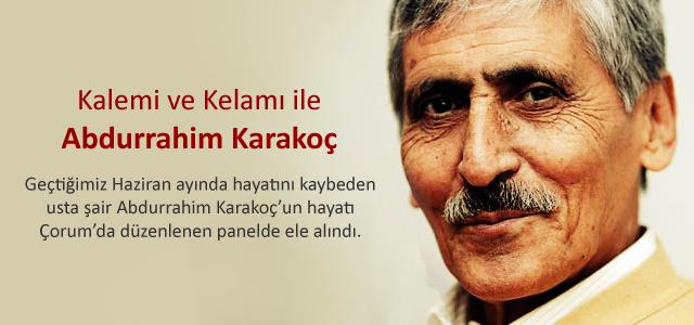 Çorum'da Abdurrahim Karakoç'a ilgi büyüktü!