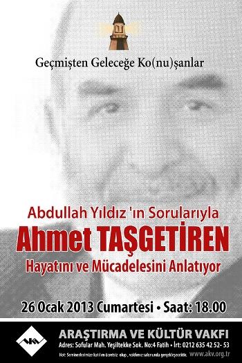 Ahmet Taşgetiren mücadelesini anlatacak