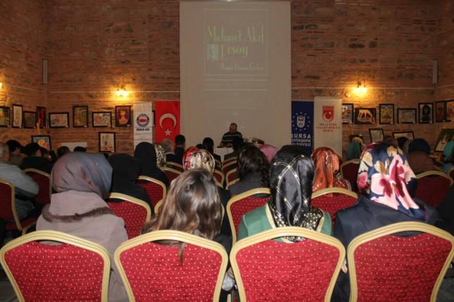 Milli şairimiz Mehmed Akif Bursa'da anıldı