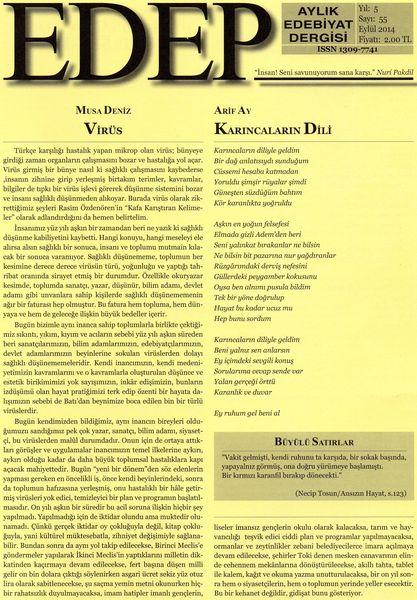 Edep dergisinin Eylül sayısı çıktı