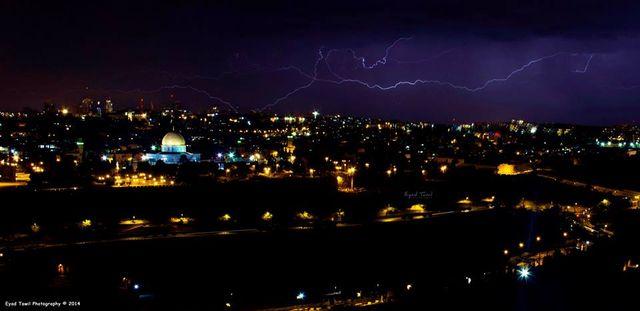 Kudüs'ün ışıkları uzak da olsa ne kadar güzel