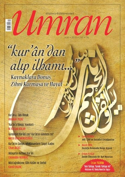 Umran'ın Ocak 2015 sayısı çıktı
