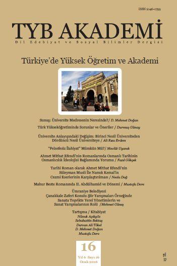 Türkiye'de Yüksek Öğretim ve Akademi