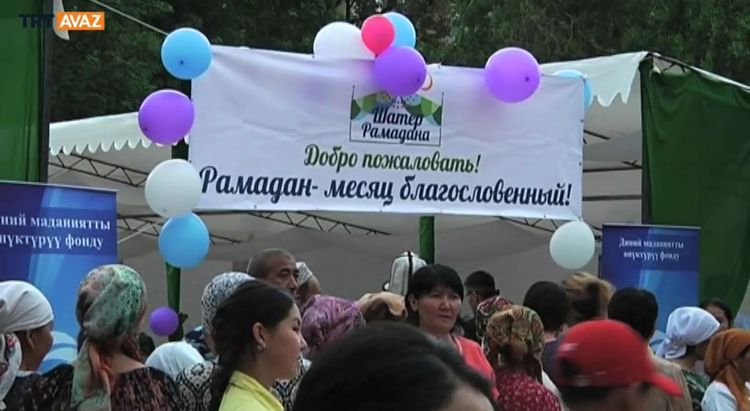 Kırgızistan'da İlk Kez İftar Çadırı Açıldı (video)