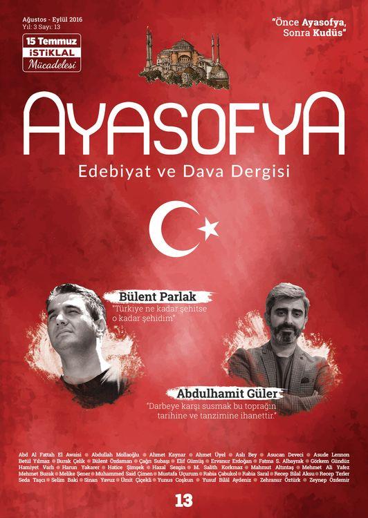 Ayasofya dergisinin 13. sayısı çıktı