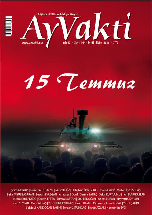 Ay Vakti dergisinin 164. sayısı çıktı