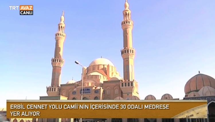 Cennet Yolu Camii Erbil'de İbadete Açıldı (video)