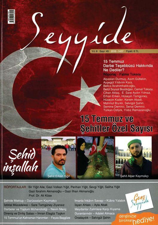 Seyyide dergisinin 45. sayısı çıktı