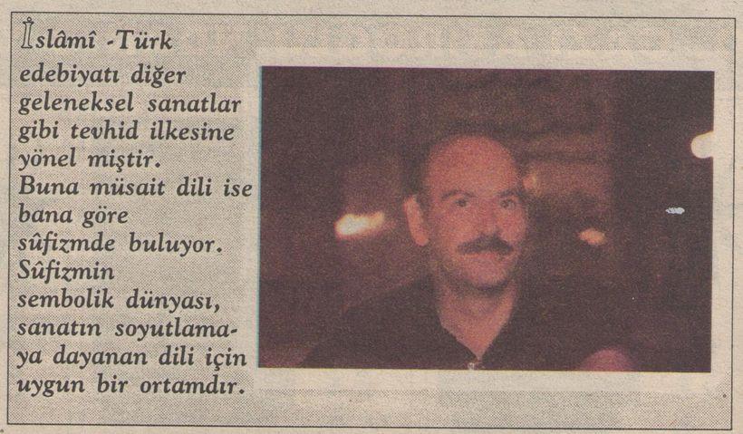 Yıl 1993: İslam Mecmuası Sordu, Mustafa Kutlu Cevapladı