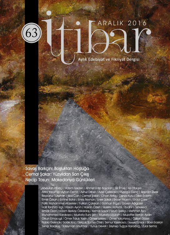 İtibar dergisinin 63. sayısı çıktı