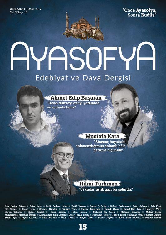 Ayasofya dergisinin 15. sayısı çıktı