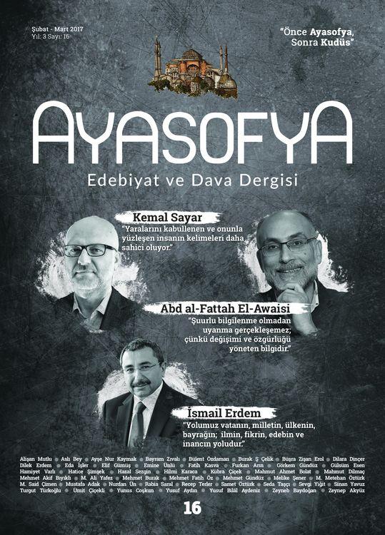 Ayasofya dergisinin 16. sayısı çıktı