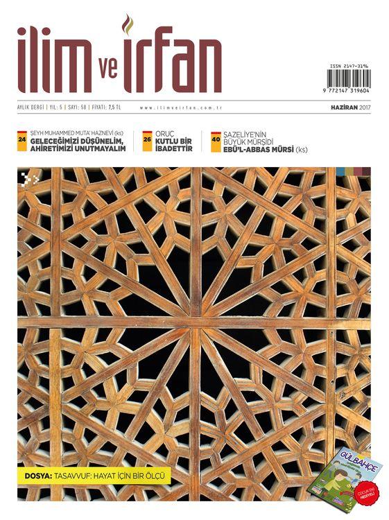 İlim ve İrfan dergisinin 58. sayısı çıktı