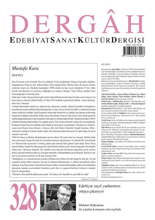 Dergâh dergisinin 328. sayısı çıktı