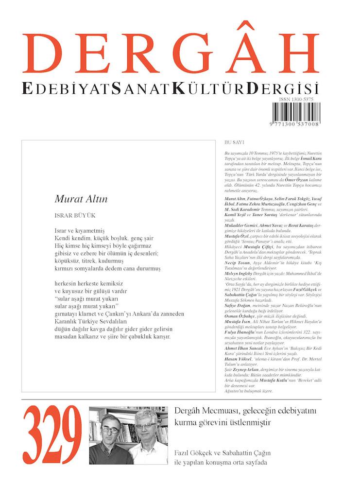 Dergâh Dergisi'nin Temmuz 2017 Sayısı Çıktı
