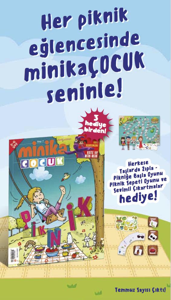 MinikaÇOCUK dergisinin Temmuz 2017 sayısı çıktı