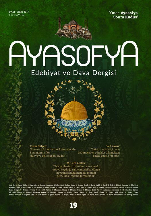 Ayasofya dergisinin 19. sayısı çıktı