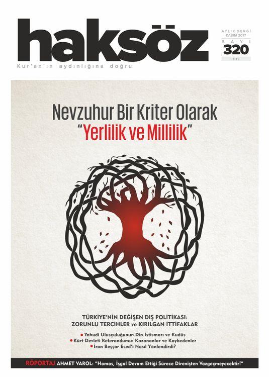 Haksöz dergisinin 320. sayısı çıktı