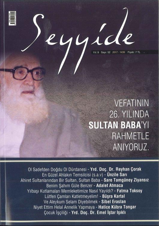 Seyyide dergisinin 52. sayısı çıktı