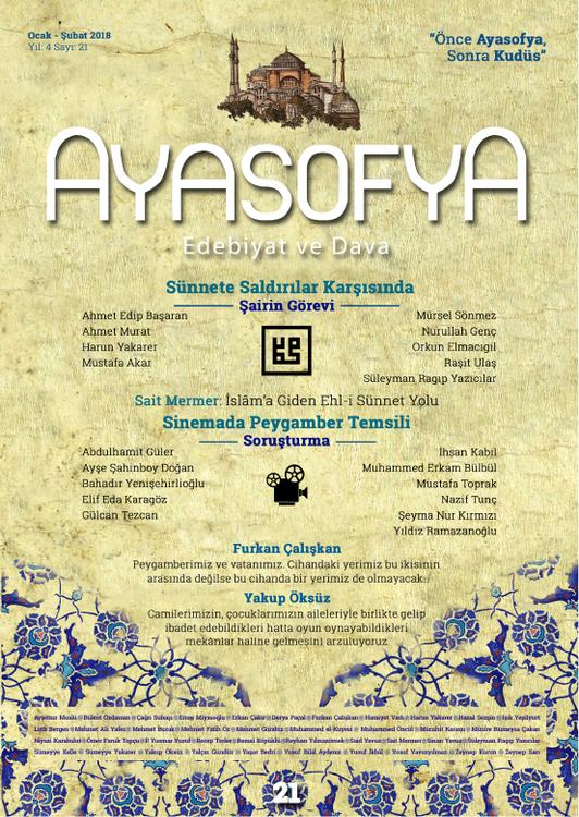 Ayasofya dergisinin 21. sayısı çıktı